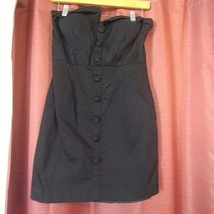 Black button down dress 21